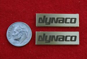 PAIR DYNACO SOLID BRASS Speaker Logo Badge -- A10/A25/A25XL/A35/A40XL/A50