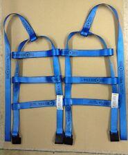 DEMCO Car Basket Straps Tow Dolly Wheel Net Set Flat Hooks BLUE USA