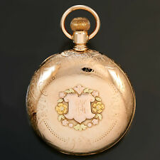 Elgin Pocket Watch 14K Multicolor Gold Hunter Case Ca1897 | 15 Jewel, 18 Size