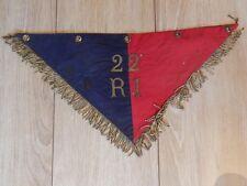 Ancienne Flamme Fanion du 22ème RI Infanterie MILITAIRE