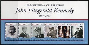 PALAU 2017  100th BIRTHDAY CELEBRATION JOHN F. KENNEDY  SHEET(6)  MINT NH