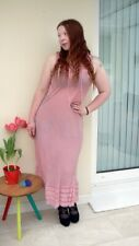 NEW with tags Nomads clothing sexy long pink laceup dress in large Festival Boho