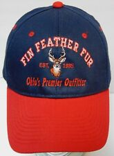FIN FEATHER FUR Ohio's Premier Outfitter DEER HUNTING ADVERTISING HAT CAP