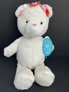 The Manhattan Toy Company White Teddy Bear Plush Stuffed Hearts NEW