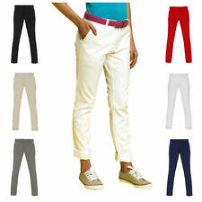 Cotton Blend Tapered Mid Rise Trousers for Women