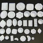 33 Pcs Dollhouse Miniature Tableware Plastic Plate Dishes Set Mini Food SW