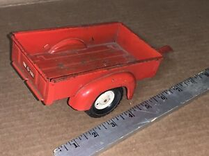 Vintage Heavy Pressed Steel Tru-Scale Trailer