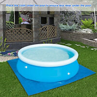 9/11/13ft Round Swimming Pool Mat for Garden Outdoor Paddling Family Pools