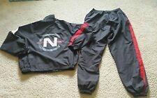 VTG Nautica Competition Spellout Jacket Pants Windbreaker Suit Sz M