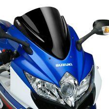 SUZUKI GSXR 750 2008 > 2010 BULLE PUIG DOUBLE COURBURE NOIR RACING SAUTE VENT