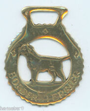 BORDER TERRIER       Horse brass  (N592)             (I always combine shipping)