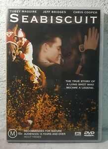 Seabiscuit DVD Horse Racing - True Story Movie Drama - Jeff Bridges
