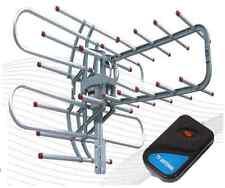 2017 1080P Outdoor Amplified Antenna Digital HD TV 150 Mile 360 Rotor UHF/VHF/FM