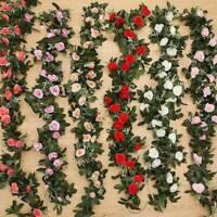 Casa Fiore Artificiale Finta Seta Foglia di Rosa Ghirlanda Paesaggio Accessorio