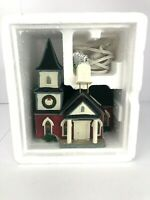 1997 Lemax Village Collection Plymouth Corners Church Porcelain Lighted House