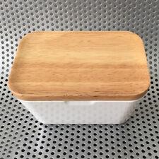 Melamin Butterglocke Butter Aufbewahrungsbox Butterbox Butterdose mit Holz