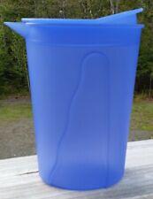 Tupperware Small Impressions Pitcher 1 Liter 4 Cups Blue Rocker Lid
