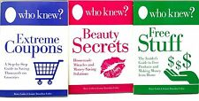 Who Knew Free Stuff Beauty Secrets Extreme Coupons Books Lubin Jeanne Bossolina