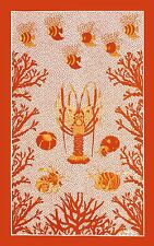 NEW BEAUVILLE CORAL AQUARIUS KITCHEN TEA TOWEL LOBSTER REEF
