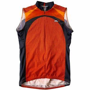 RLX Polo Sport Cycling Jersey Shirt Mens Large Biking Ralph Lauren USA Made