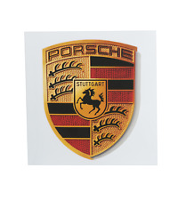 Original Porsche Aufkleber Wappen Emblem Fanartikel z.B. f. Armatur Felgen Deko