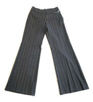 Vintage Made In Heaven Women's Pants Gray Pinstripe Flare Leg Stretch Size 4