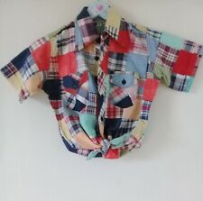 1970s Classic Patchwork Retro Shirt 100% Cotton Multi Coloured