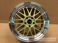 "18"" LM MESH STYLE GOLD WHEELS RIMS FITS VW VOLKSWAGEN 99-05 JETTA 5X100"