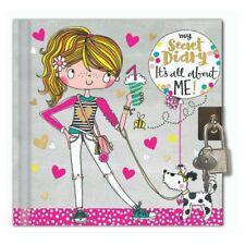 Girl & Dog Diario Segreto con serratura bloccabile Rachel Ellen CHIAVE Giornale per bambini