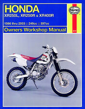 Haynes Repair/Service Manual 2219 XR250L  XR250R  XR400R 1986-03