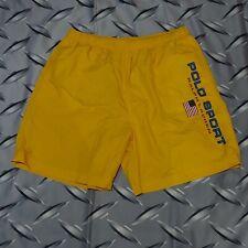 VTG Ralph Lauren Polo Sport Swim Trunks Mens Shorts Spell Out Flag Sz XXL
