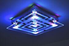 Deckenlampe Design LED Farbwechsel Leuchte Chrom Deckenleuchte Glas Lampe NEU