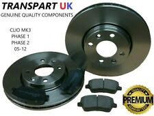 * RENAULT CLIO MK3 1.2 1.4 1.5 DCI 1.6 VVT FRONT BRAKE DISCS AND PADS SET 05-12