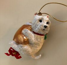 Danbury Mint Ornament West Highland White Terrier Westie Dog Swinging on a Star