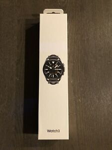 Samsung Galaxy Watch3 SM-R840 45mm Stainless Steel Case with Leather Strap.
