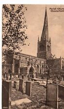 Derbyshire - Chesterfield, Parish Church - Postcard Franked 1909