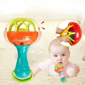 Baby Macaron Soft Rattle Early Educational Kids Toddler Interactive Toy.