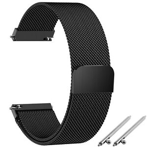 14. 16. 18. 20. 22. 24 mm Edelstahl Milanaise Mesh-Uhrenarmband Magnetverschluss