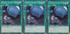 YUGIOH 3 X FOOLISH BURIAL GOODS - SUPER  - DASA-EN058  DARK SAVIORS
