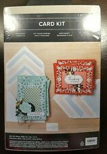 Stampin' Up! Flower KERCHIEF CARD KIT Stickers 3-D Twine Blue Red Makes 8 NIP