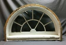 Antique 29x45 Arch Half Round Transom Window Arched Surround Vtg 115-19B