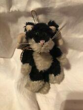 Boyds Bears & Friends Vintage Plush Bear Black white winged cat ornament