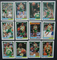 1992-93 Topps Seattle Supersonics Sonics Team Set Of 12 Basketball Cards