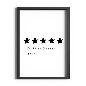 Kitchen Prints Minimalist Wall Art Picture Funny Quote Print Dining Room Poster
