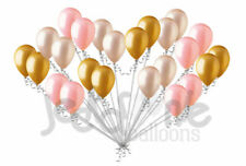 24 pc Coral Peach & Gold Latex Balloons Party Decoration Wedding Baby Birthday