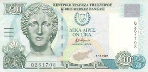 #Central Bank of Cyprus 10 Lira 1997 P-59 XF Artemis