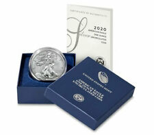 2020 W 1 oz Burnished American Silver Eagle $1 Coin Bu Brilliant Unc Presale