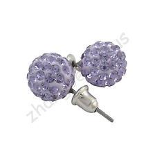 New Austrian Crystal Pave Disco Clay Charms Ball Beads Ear Stud Earrings 10 mm