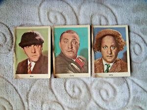 vintage 1959 Fleer Three Stooges card lot Larry Moe Curly