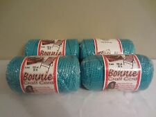 Lot of 4 Rolls of Turquoise 6mm Bonnie Braid Braided Macrame Craft Cord 400yds